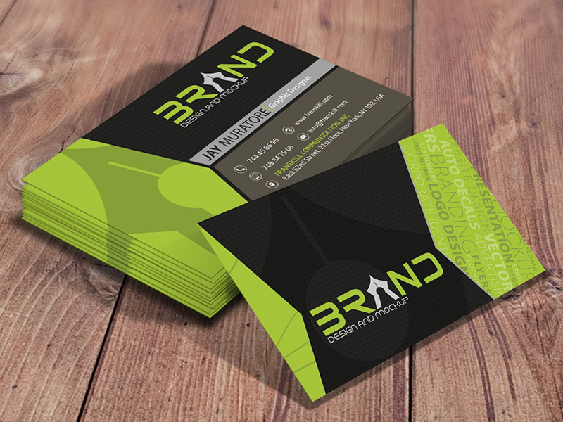 Brand design business card reheart Image collections
