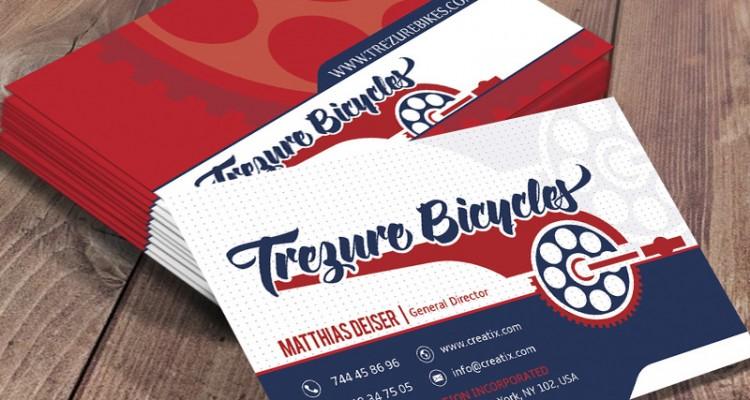 Business card design for trezure bikes colourmoves