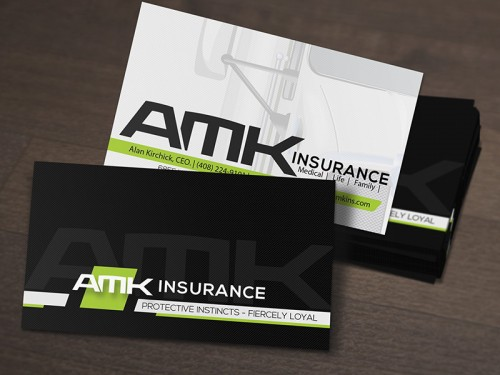 Amk insurance business card design reheart Image collections