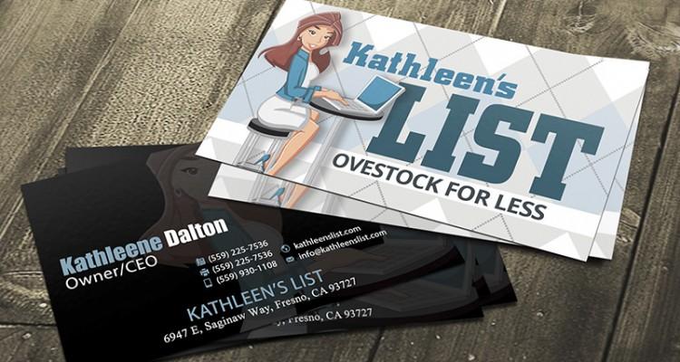Kathleens list logo and business card design colourmoves