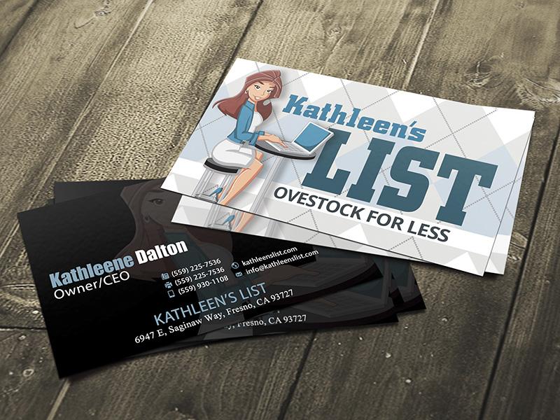 Kathleens List Logo and Business Card Design